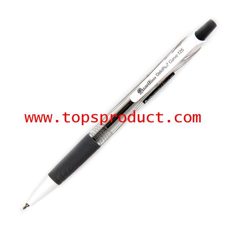 ปากกาลูกลื่น 0.5 มม. ดำ ควอนตั้ม GeloPlus Curve 125