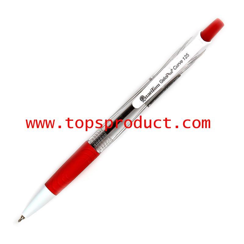 ปากกาลูกลื่น 0.5 มม. แดง ควอนตั้ม GeloPlus Curve 125