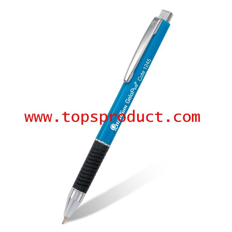 ปากกาลูกลื่น 0.7มม. หมึกน้ำเงิน ด้ามน้ำเงิน ควอนตั้ม GeloPlus 1245