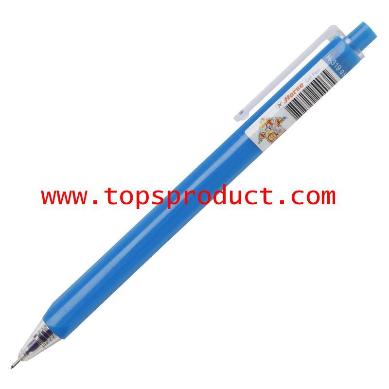 ปากกาเจลกด 0.5 มม. น้ำเงิน ตราม้า H-319