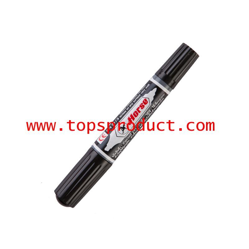 ปากกามาร์คเกอร์ 2หัว (แพ็ค3ด้าม) ดำ ตราม้า