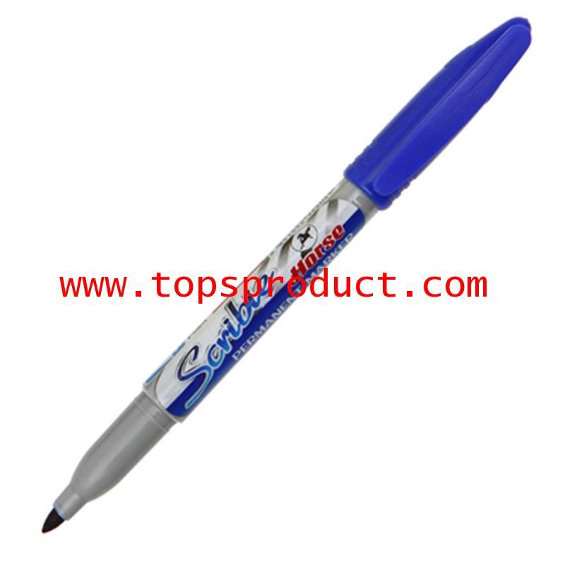 ปากกามาร์คเกอร์ 1 มม. น้ำเงิน ตราม้า Scribie