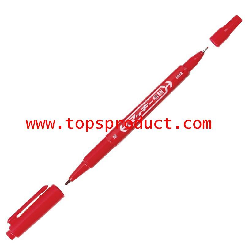 ปากกามาร์คเกอร์ 2 หัว แดง ซีบร้า MO-120MC