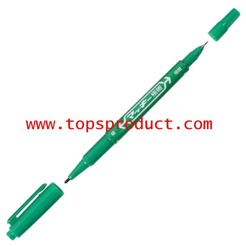 ปากกามาร์คเกอร์ 2 หัว เขียว ซีบร้า MO-120MC