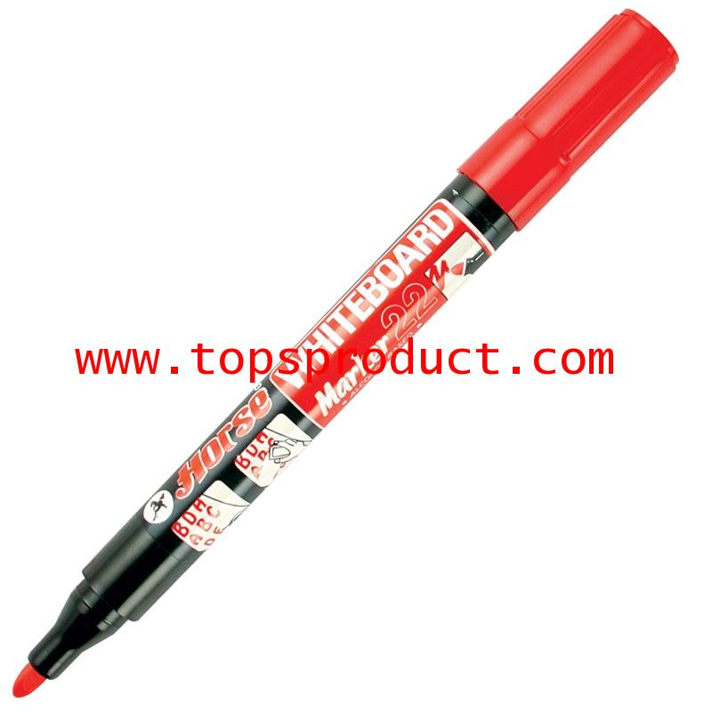 ปากกาไวท์บอร์ด 2 มม. แดง ตราม้า H-22