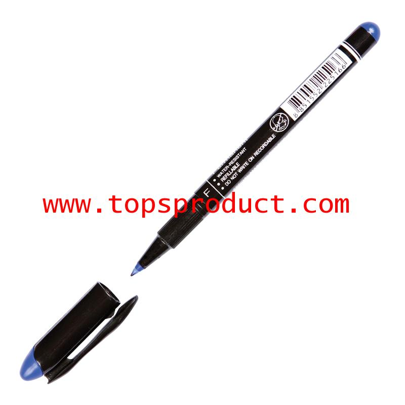 ปากกาเขียนแผ่นซีดีลบไม่ได้ 0.6มม. น้ำเงิน F ตราม้า H-52F