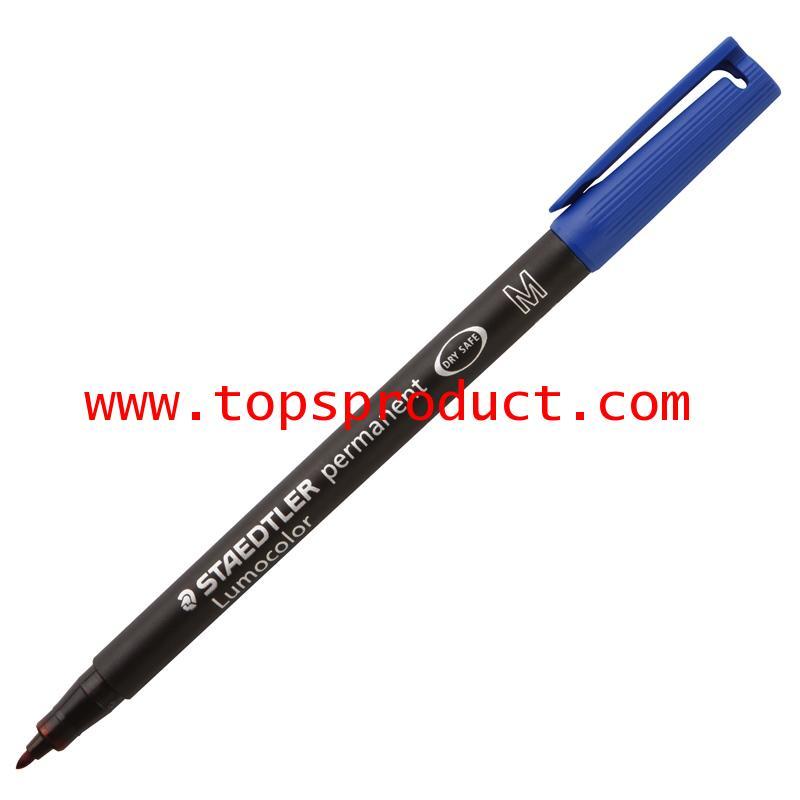 ปากกาเขียนแผ่นใสลบไม่ได้ (M) 1.0 มม. น้ำเงิน สเต็ดเล่อร์ 317-3