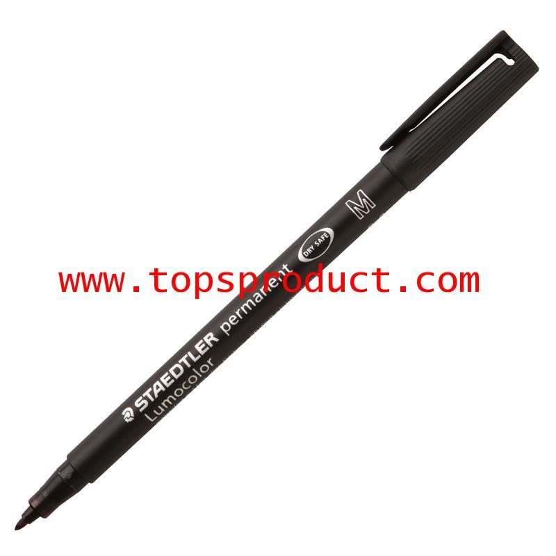ปากกาเขียนแผ่นใสลบไม่ได้ (M) 1.0 มม. ดำ สเต็ดเล่อร์ 317-9