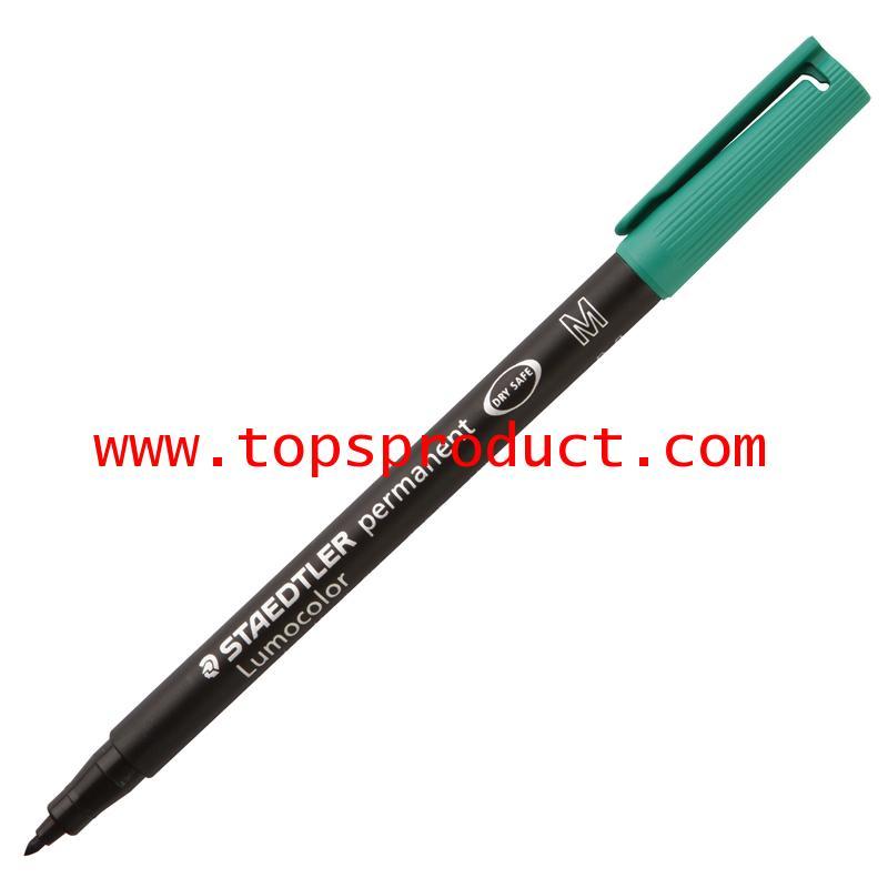 ปากกาเขียนแผ่นใสลบไม่ได้(M)1.0มม.เขียว สเต็ดเล่อร์ 317-5