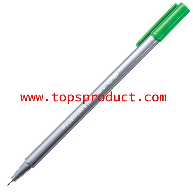ปากกาหัวเข็ม 0.3 มม. เขียว 334-5 สเต็ดเล่อร์ TRIPLUS