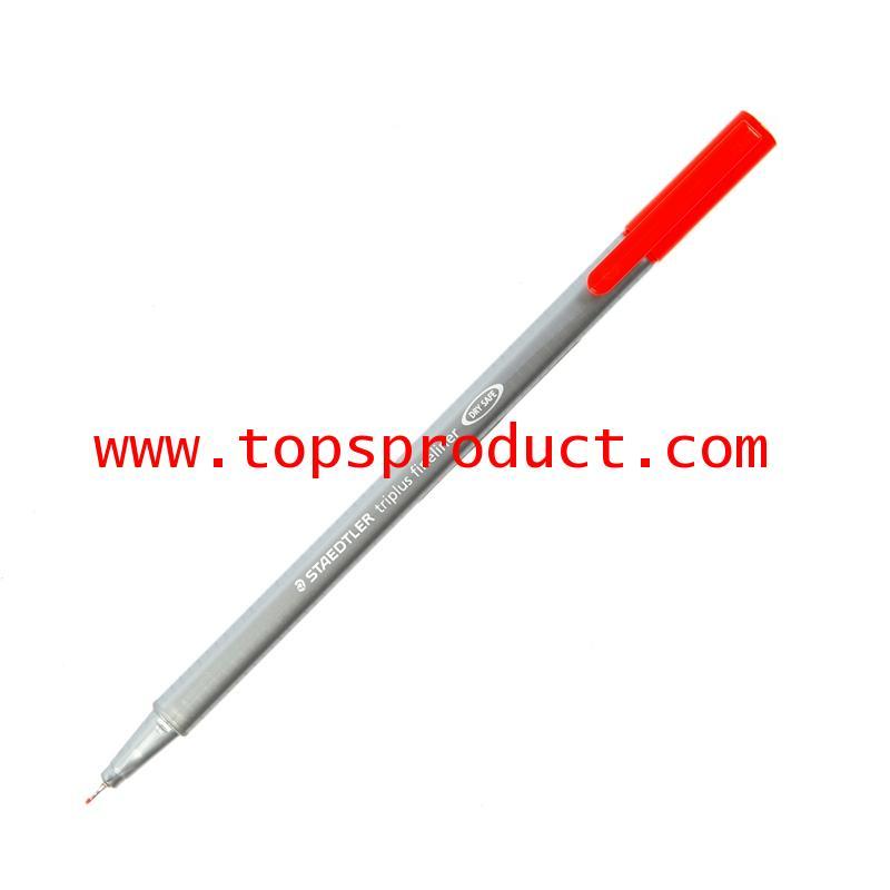 ปากกาหัวเข็ม 0.3 มม. แดง 334-2 สเต็ดเล่อร์ TRIPLUS