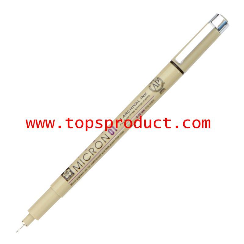ปากกาหัวเข็ม 0.1 มม. ดำ พิกม่า XSDK