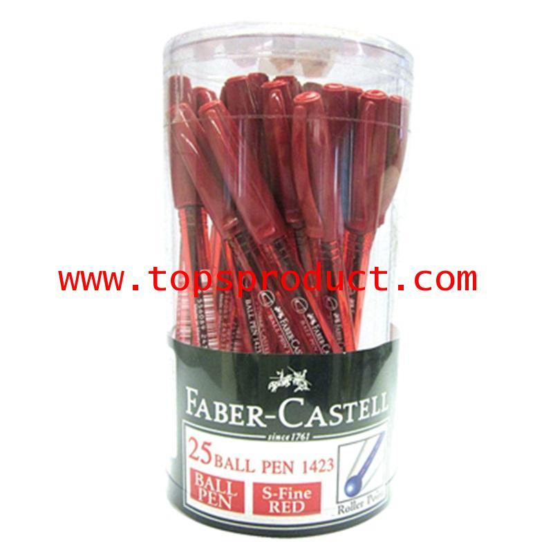 ปากกาลูกลื่น 0.5มม. (แพ็ค25ด้าม)แดง 10372135 Faber-Castell 1423