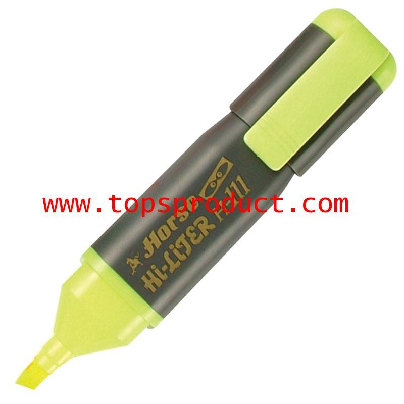 ปากกาเน้นข้อความ เหลือง ตราม้า H-111