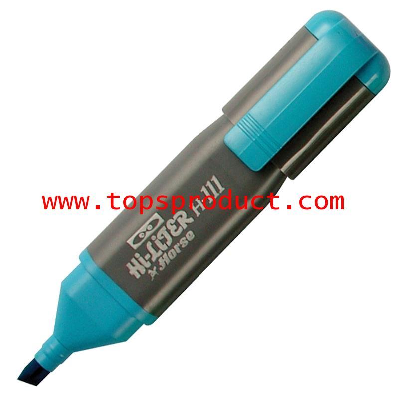 ปากกาเน้นข้อความ ฟ้า ตราม้า H-111