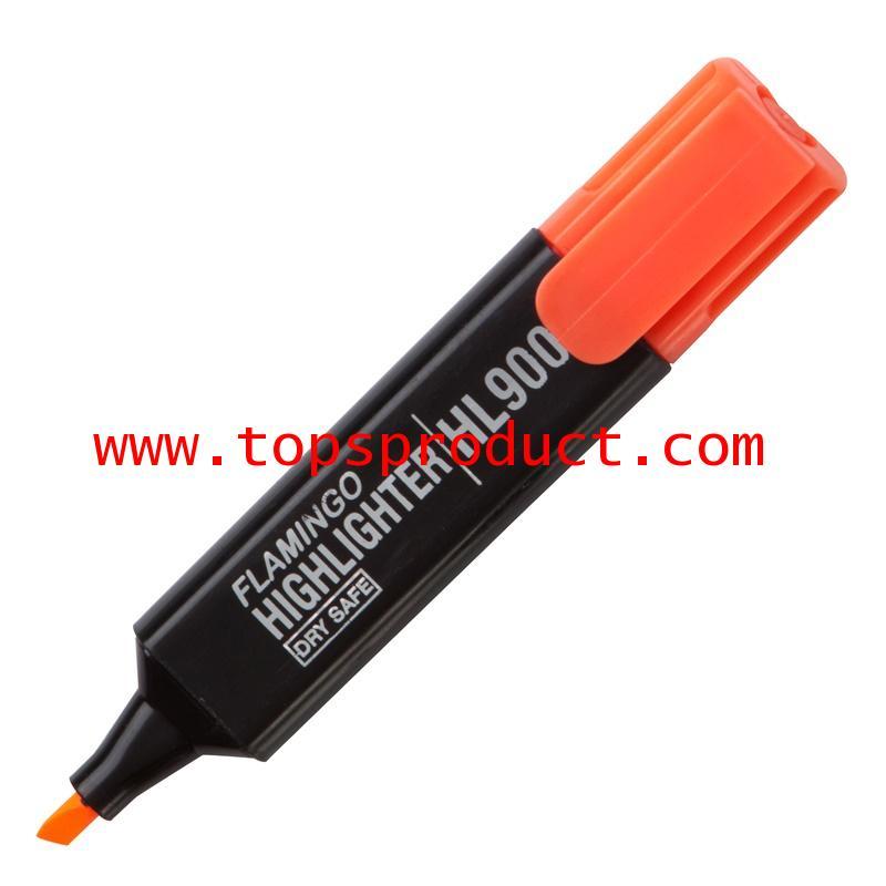 ปากกาเน้นข้อความหัวตัด ส้ม ฟลามิงโก้ HL900