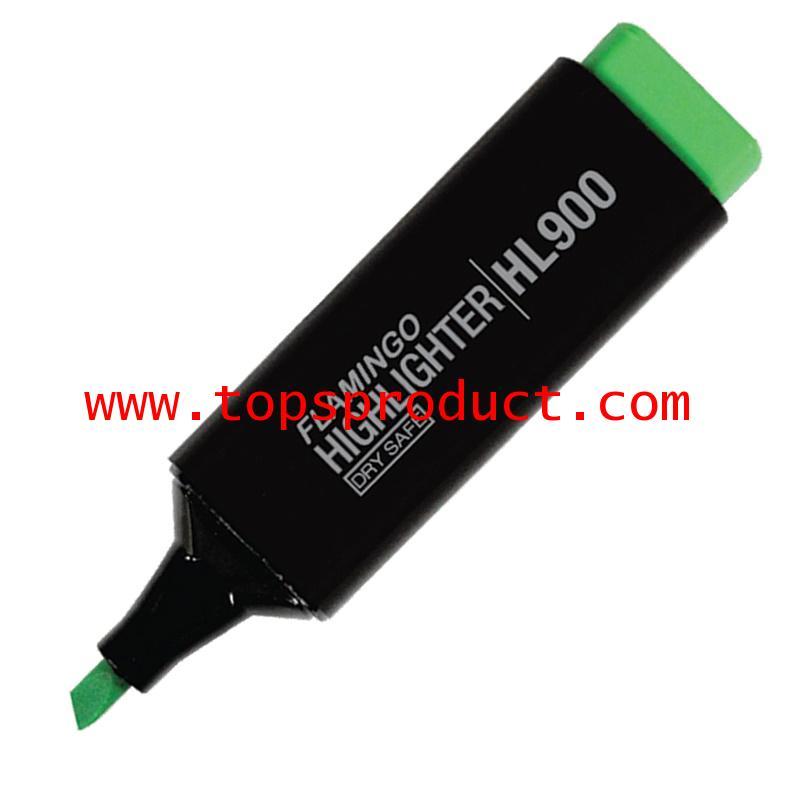 ปากกาเน้นข้อความหัวตัด เขียว ฟลามิงโก้ HL900