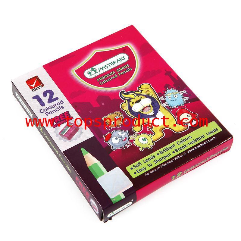 ดินสอสี แท่งสั้น (กล่อง12สี) มาสเตอร์อาร์ต