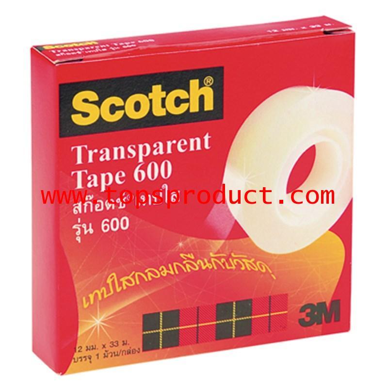 เทปใส แกน 1 นิ้ว 1/2 นิ้วx36 หลา สก๊อตช์ 600