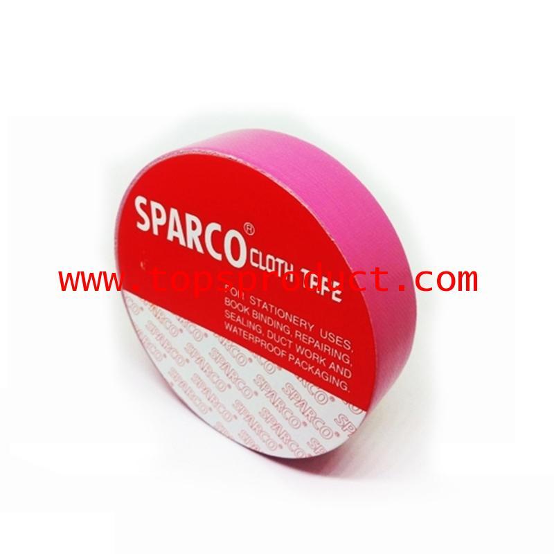 เทปผ้าสีชมพูเข้ม 1นิ้วx8หลา SPARCO