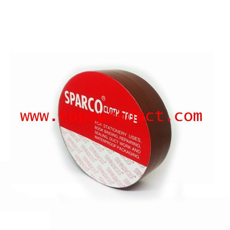 เทปผ้าสีน้ำตาล 1นิ้วx8หลา SPARCO