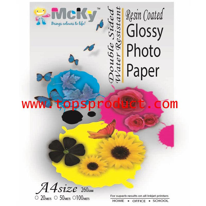 Glossy Photo Paper Double Sided Water Resistant A4 260g Mcky