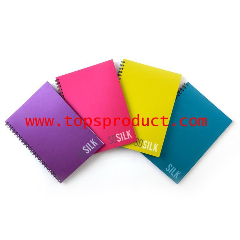 สมุดริมลวด A5 70 แกรม คละสี (60แผ่น) ตราช้าง sosilk-201