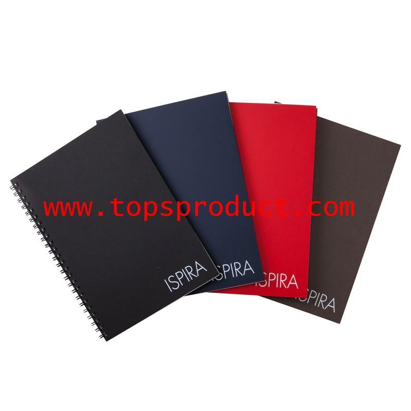 สมุดริมลวด A5 70แกรม คละสี (60แผ่น) ตราช้าง ISPIRA-201