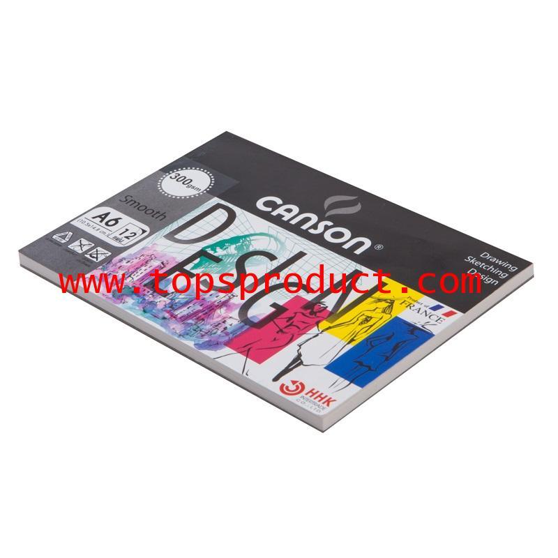 สมุดวาดเขียนA6 300แกรม ผิวเรียบ (12แผ่น/เล่ม) แคนสัน 600759