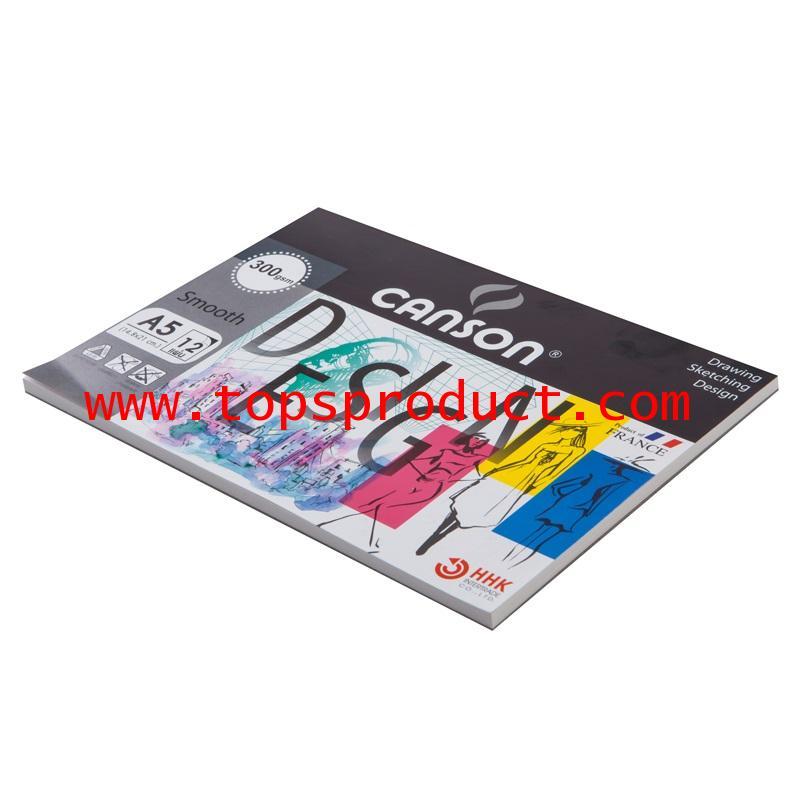 สมุดวาดเขียนA5 300แกรม ผิวเรียบ (12แผ่น/เล่ม) แคนสัน 600758