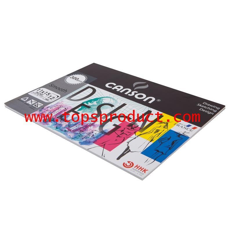 สมุดวาดเขียน 11x15นิ้ว 300แกรม เรียบ (12แผ่น/เล่ม) แคนสัน 600753