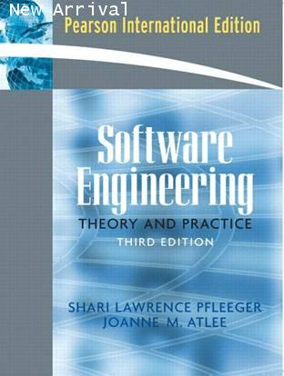 SOFTWARE ENGINEERING: THEORY AND PRACTICE (IE) 3E