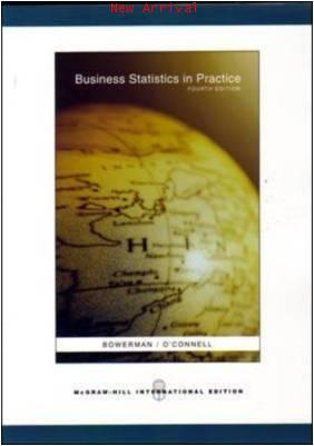 Business Statistics in Practice with Student CD ISBN 9780071108379