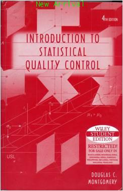 Introduction To Statistical Quality Control, 4e ISBN997151351X
