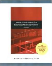 Essential of Business Statistics 4ED ISBN 9780071314718