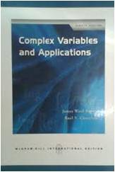 Complex Variables and Applications 8ED ISBN9780071263283
