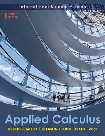 Applied Calculus International student edition ISBN  9780470505892