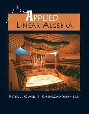 Applied Linear Algebra (International Edition) ISBn 9780131293281