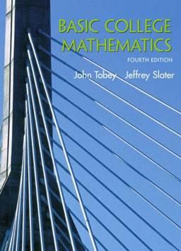 Basic College Mathematics, ISBN 9780130909541