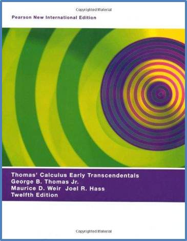 Thomas\' Calculus Early Transcendentals New International Edition  ISBN 9781292021232