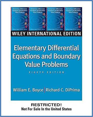 Elementary Differential Equations and Boundary Value Problems 8ED ISBN 9780471644545