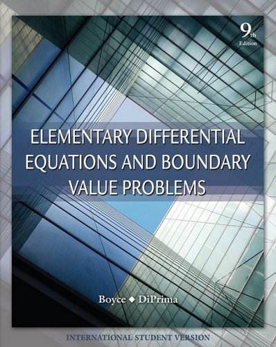 Elementary Differential Equations and Boundary Value Problems, ISBN 9780470398739
