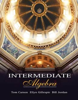 Intermediate Algebra, ISBN 9780201729191