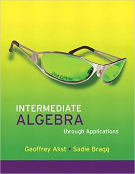 Intermediate Algebra through Applications , ISBN  9780321518019