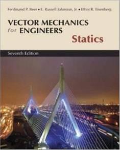 Vector Mechanics for Engineers Statics, 7E ISBN 9780071218306