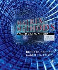 Matrix Methods  ISBN 9780123744272