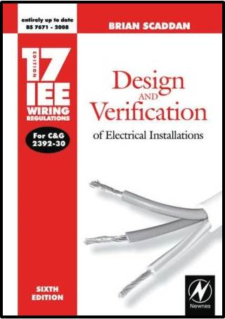 Design and Verification of Electrical Installations  ISBN 9780750687218