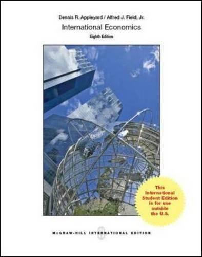 International Economics   ISBN  9781259010576