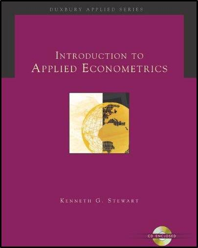 Introduction to Applied Econometrics  ISBN 9780534369163