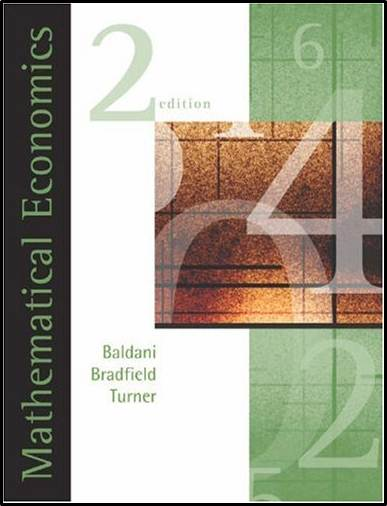 Mathematical Economics, 2nd Edition  ISBN  9780324183320